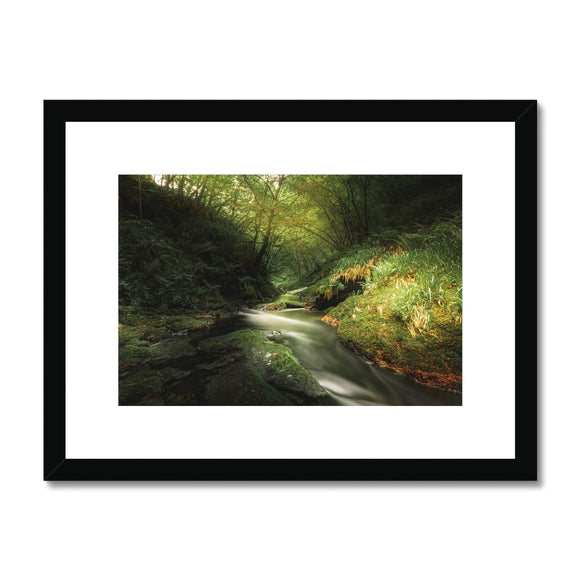 Play of Light - Lydford Gorge, Dartmoor Framed & Mounted Print