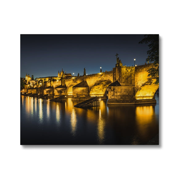 Luminescent Bridge! - Charles Bridge, Prague Canvas - Sydspicsprints