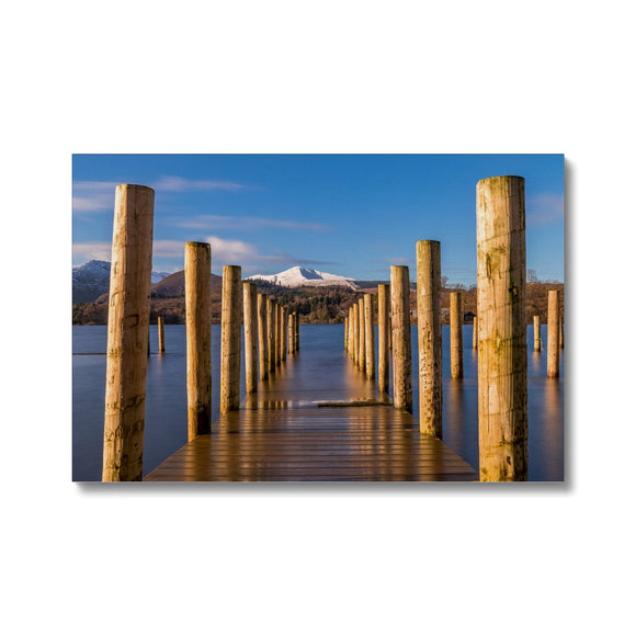 Into the water - Derwent Water, Lake District Canvas