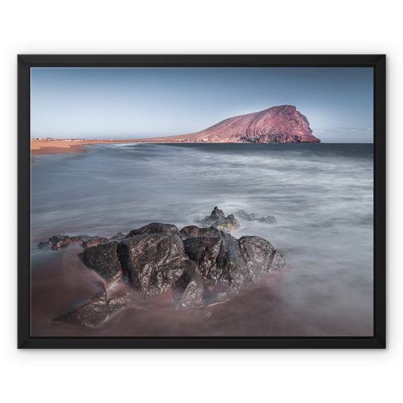 The Red Mountain! - Montana Roja, Playa de la Tejita, Tenerife Framed Canvas