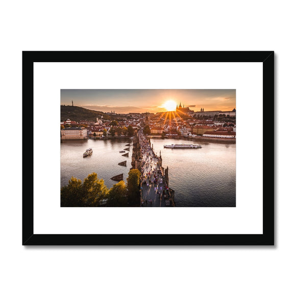 Evening Rush! - Charles Bridge, Prague Framed & Mounted Print - Sydspicsprints