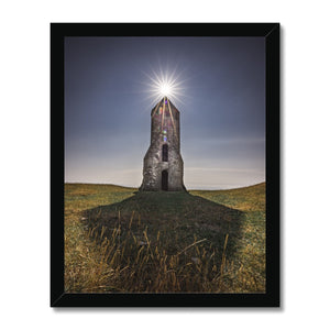 A crown so bright! - St. Catherine's Oratory, Isle of Wight Framed Print - Sydspicsprints