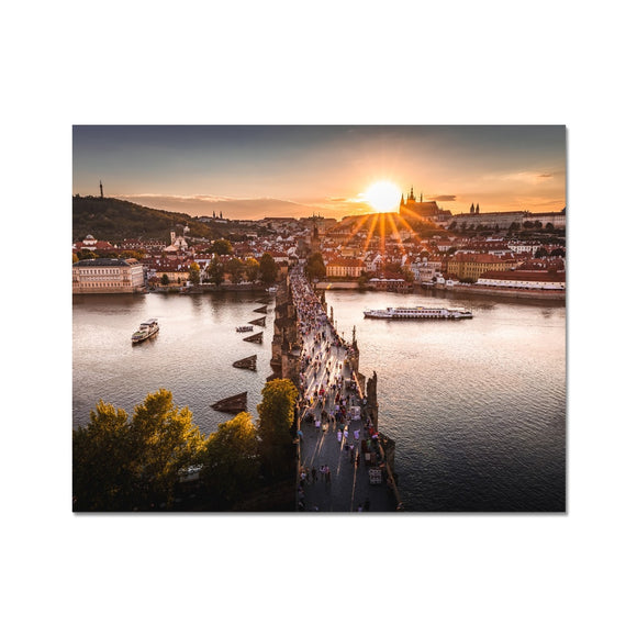 Evening Rush! - Charles Bridge, Prague Fine Art Print - Sydspicsprints