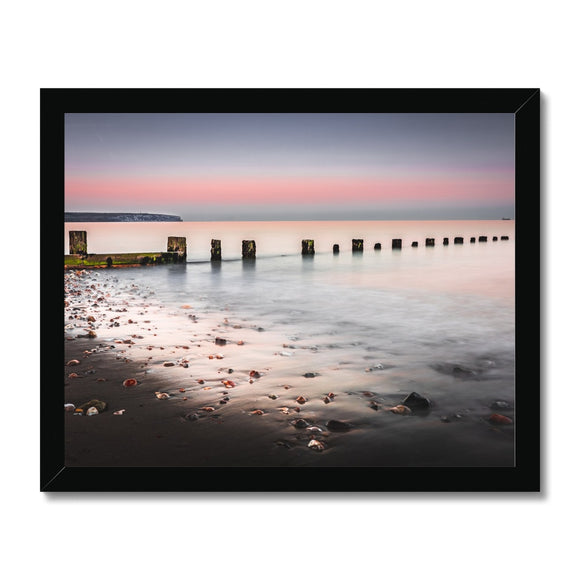 Calmness- Shanklin Beach, Isle of Wight Framed Print - Sydspicsprints
