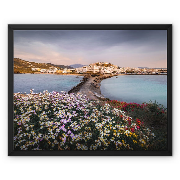 Spring in the Cyclades - Naxos, Greece Framed Canvas - Sydspicsprints