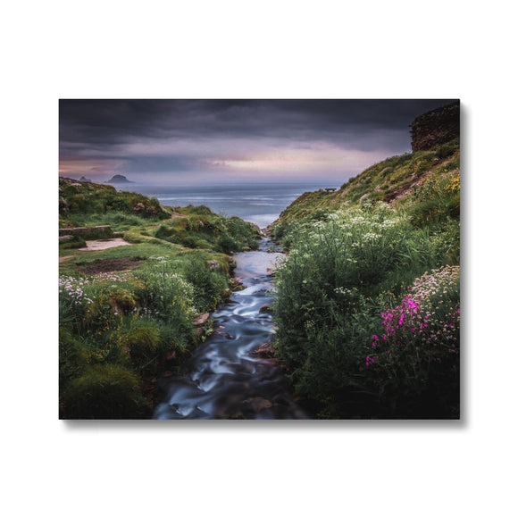 Into the Ocean! - Porth Nanven, Cornwall Canvas