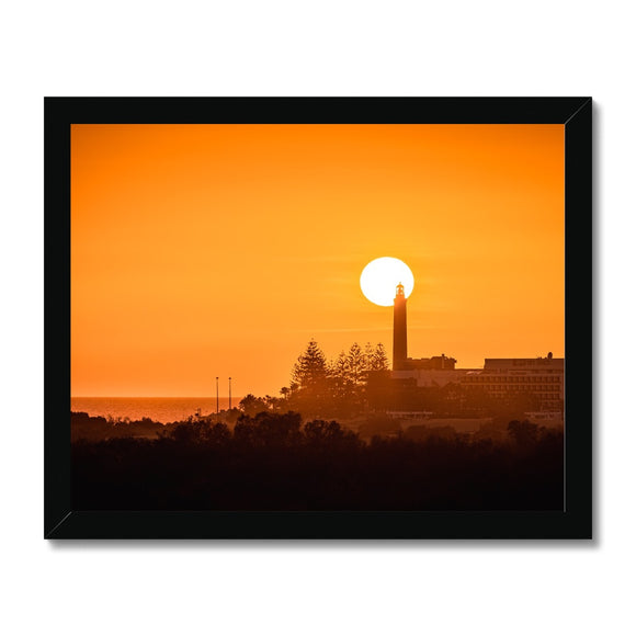Sun-Light House! - Maspalomas, Gran Canaria Framed Print - Sydspicsprints
