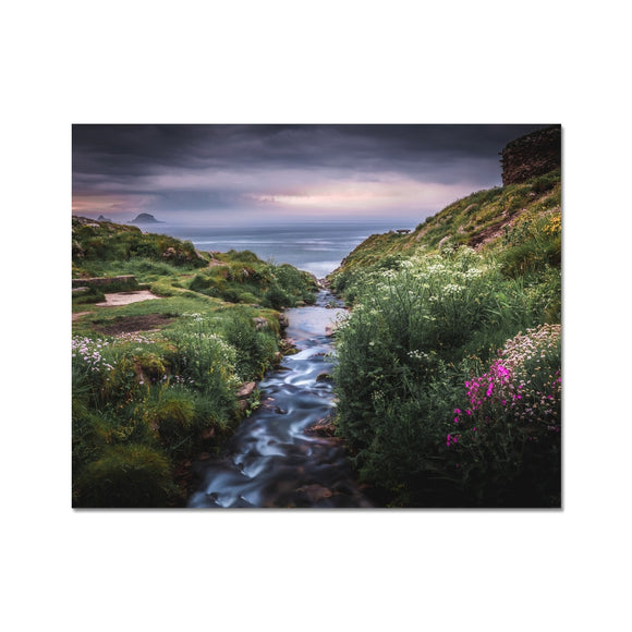 Into the Ocean! - Porth Nanven, Cornwall Fine Art Print