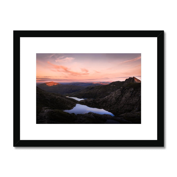 Mt. Snowdon - Snowdonia National Park, Wales, United Kingdom Framed & Mounted Print