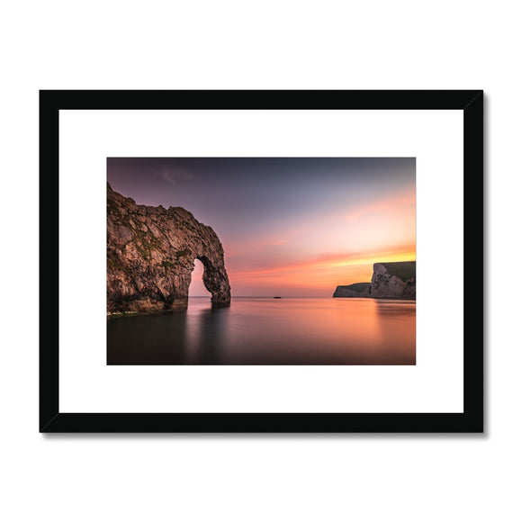 A painting by nature! - Durdle Door Framed & Mounted Print