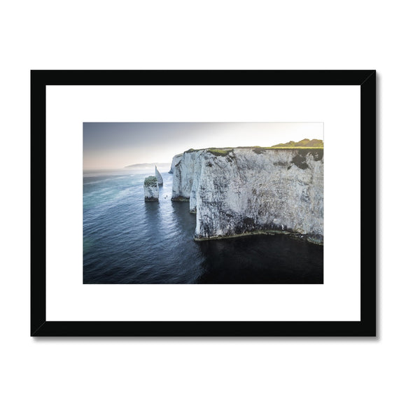 Canoeing in No Man's Land - Old Harry Rocks Framed & Mounted Print
