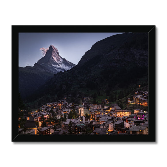 Twilight Glow! - Zermatt, Switzerland Framed Print - Sydspicsprints