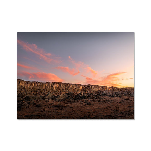 A painting in the desert! - Janubio, Lanzarote Fine Art Print