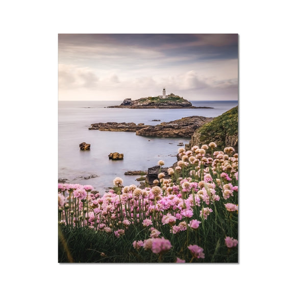 Coastal Springtime! - Godrevy Lighthouse, Cornwall Fine Art Print - Sydspicsprints