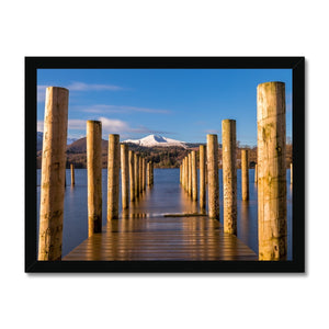 Into the water - Derwent Water, Lake District Framed Print