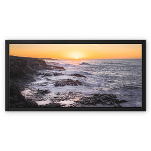 Where forces of nature collide! - Janubio, Lanzarote Framed Canvas