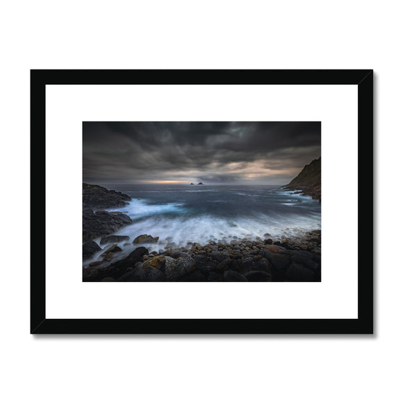 Break Through! - Porth Nanven, Cornwall Framed & Mounted Print - Sydspicsprints