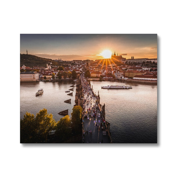 Evening Rush! - Charles Bridge, Prague Canvas - Sydspicsprints