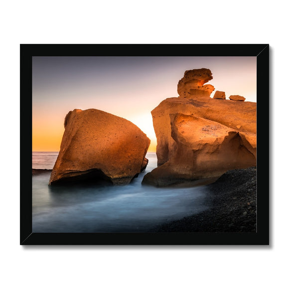 Sculpted by Lava! - Playa De Tajao, Tenerife Framed Print