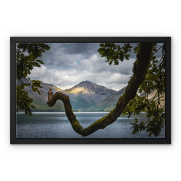 Triangles - Wast Water, Lake District, United Kingdom Framed Canvas