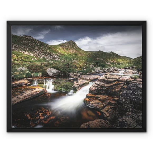 Carved by water - Tavy Cleave, Dartmoor Framed Canvas - Sydspicsprints