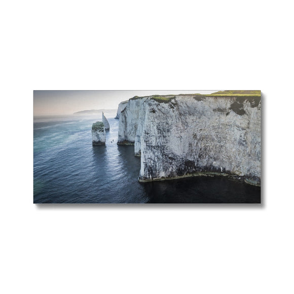 Canoeing in No Man's Land - Old Harry Rocks Canvas