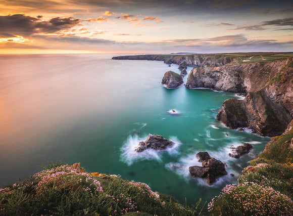 Sunset Colours - Bedruthan Steps, Cornwall - Sydspicsprints