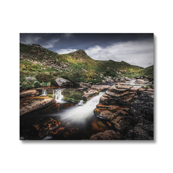 Carved by water - Tavy Cleave, Dartmoor Canvas - Sydspicsprints