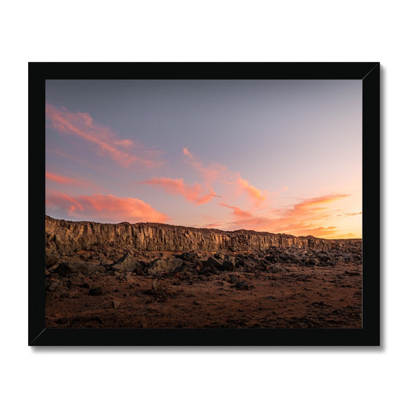 A painting in the desert! - Janubio, Lanzarote Framed Print