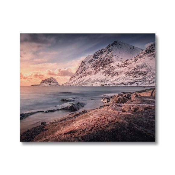Fire and Ice! - Haukland Beach, Lofoten, Norway Canvas