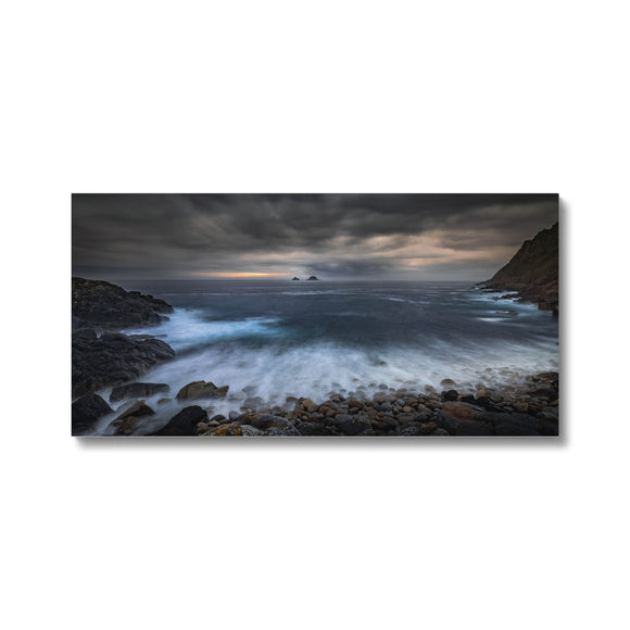 Break Through! - Porth Nanven, Cornwall Canvas - Sydspicsprints