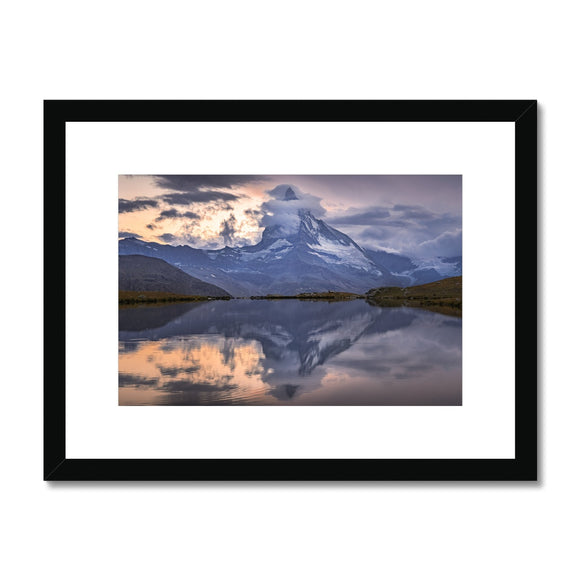 Smoke and Fire! - Stellisee, Switzerland Framed & Mounted Print