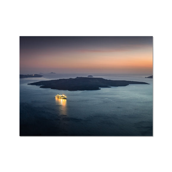 Twilight Cruiser! - Caldera, Santorini Fine Art Print - Sydspicsprints