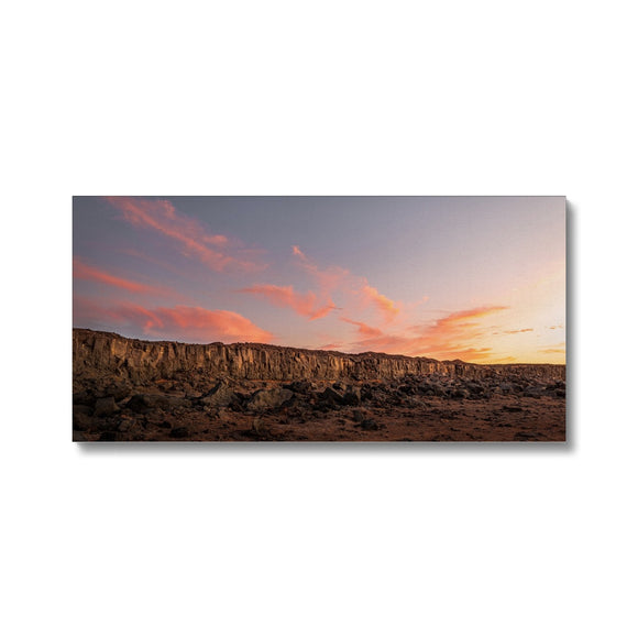 A painting in the desert! - Janubio, Lanzarote Canvas