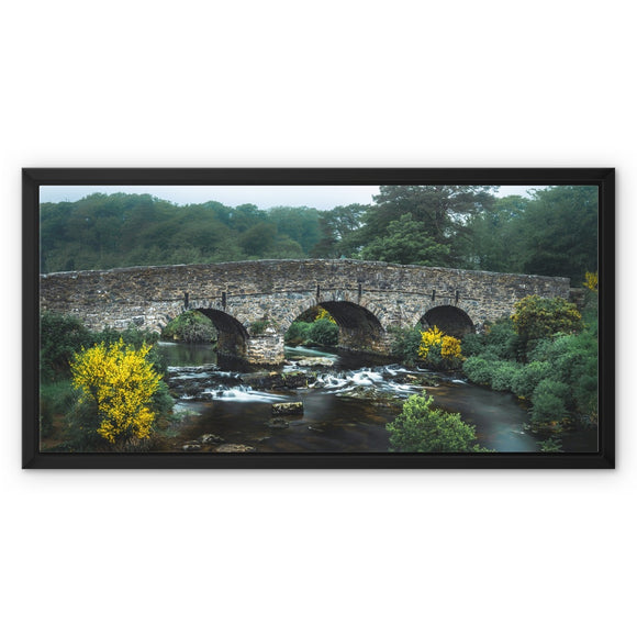 Yellow and Green - Postbridge, Dartmoor Framed Canvas - Sydspicsprints