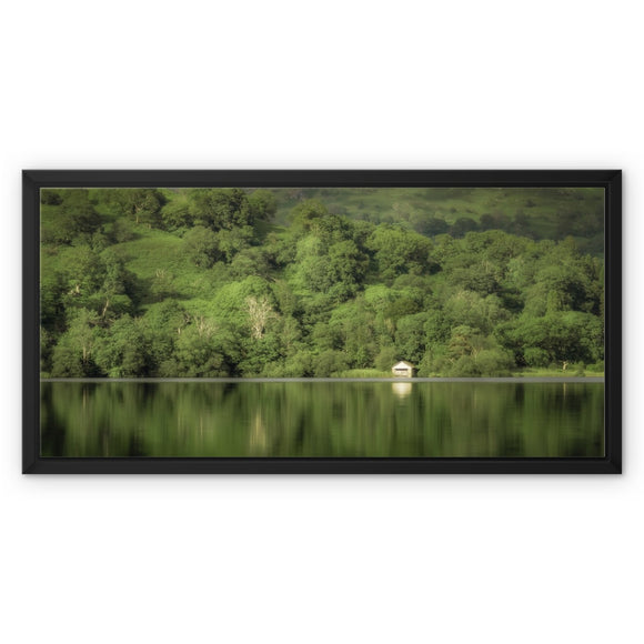 Dream in Green - Rydal Water, Lake District, United Kingdom Framed Canvas