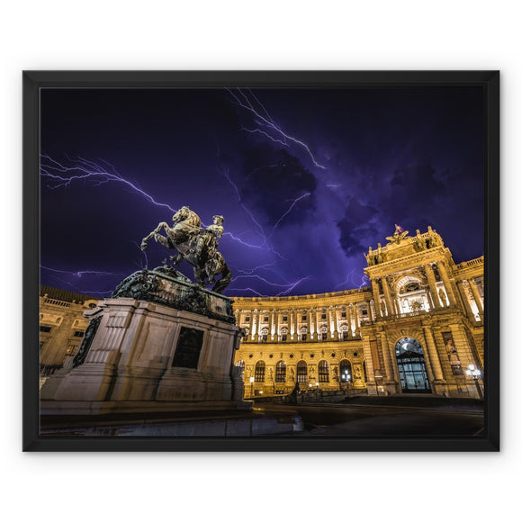 Sword of Lightning! - Hofburg Palace, Vienna Framed Canvas - Sydspicsprints