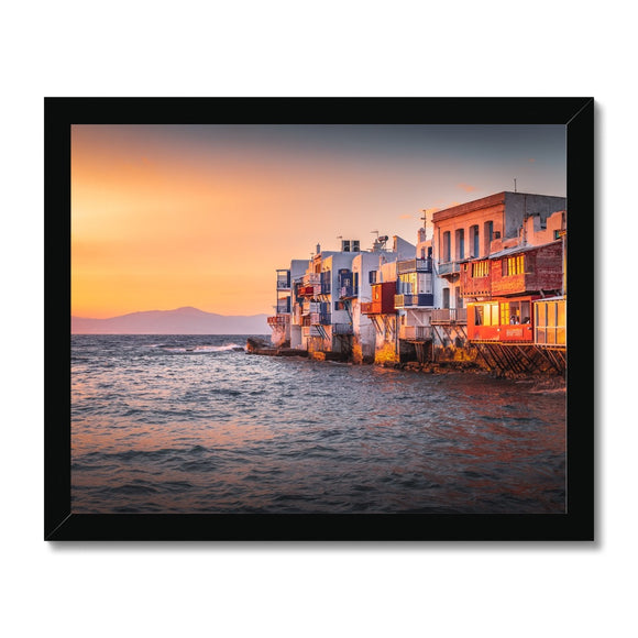 Mediterranean Rhapsody! - Mykonos, Greece Framed Print - Sydspicsprints