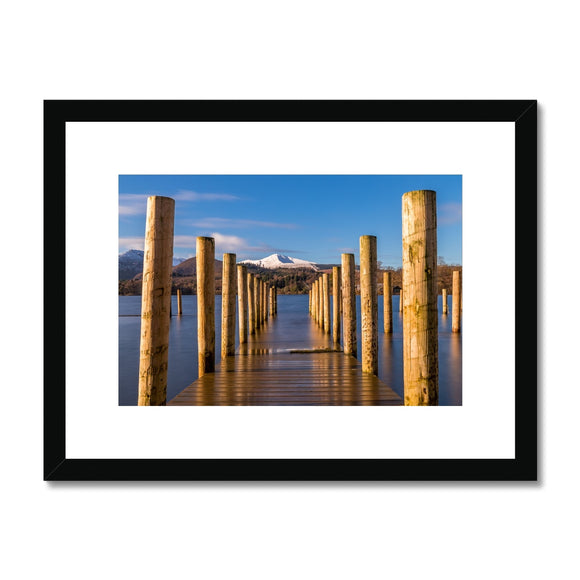 Into the water - Derwent Water, Lake District Framed & Mounted Print