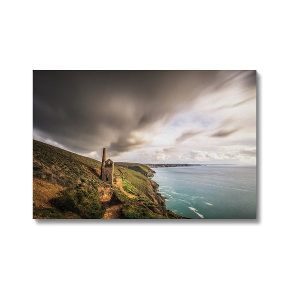 The Chimney Storm! - Wheal Coates, Cornwall Canvas - Sydspicsprints