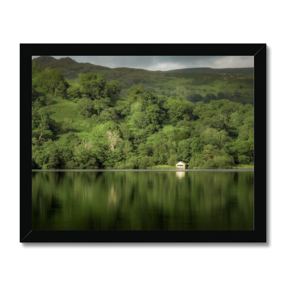 Dream in Green - Rydal Water, Lake District, United Kingdom Framed Print
