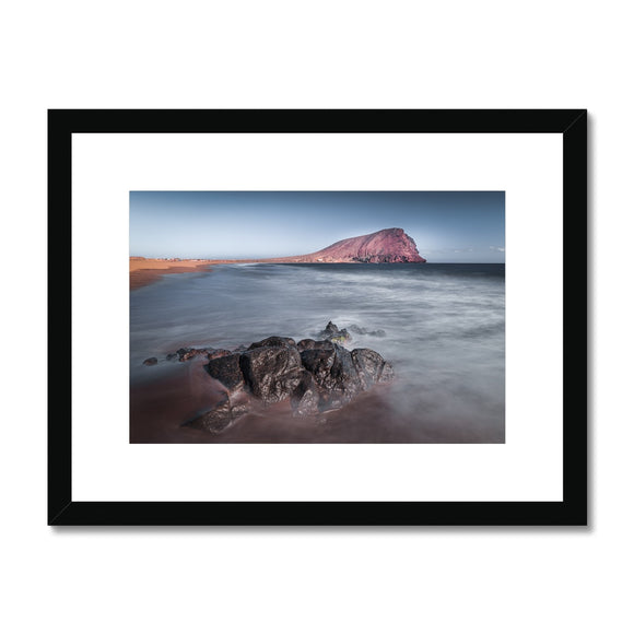 The Red Mountain! - Montana Roja, Playa de la Tejita, Tenerife Framed & Mounted Print