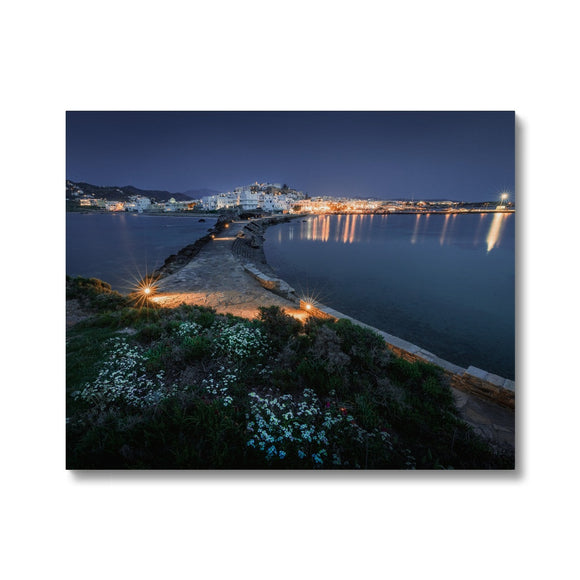 Aegean Twilight - Naxos, Greece Canvas - Sydspicsprints