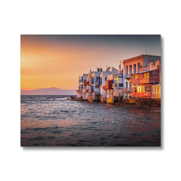 Mediterranean Rhapsody! - Mykonos, Greece Canvas - Sydspicsprints