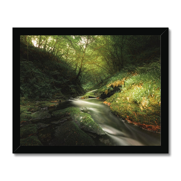 Play of Light - Lydford Gorge, Dartmoor Framed Print