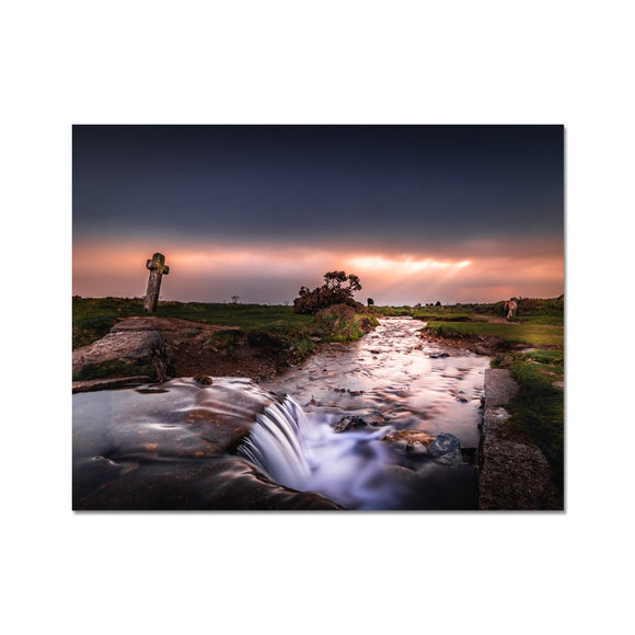 Sky on fire - Windy Post, Dartmoor Fine Art Print