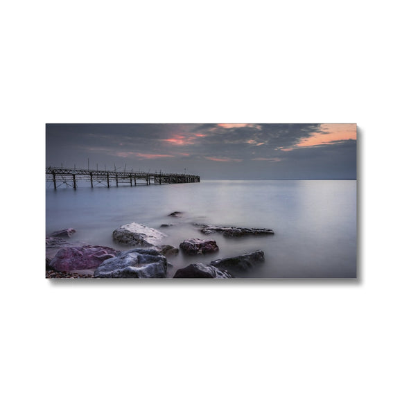 Smooooth! - Totland Bay Pier, Isle of Wight Canvas - Sydspicsprints