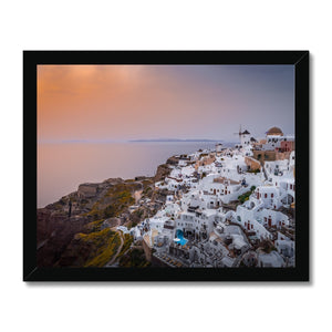 Splash of Light! - Oia, Santorini Framed Print - Sydspicsprints