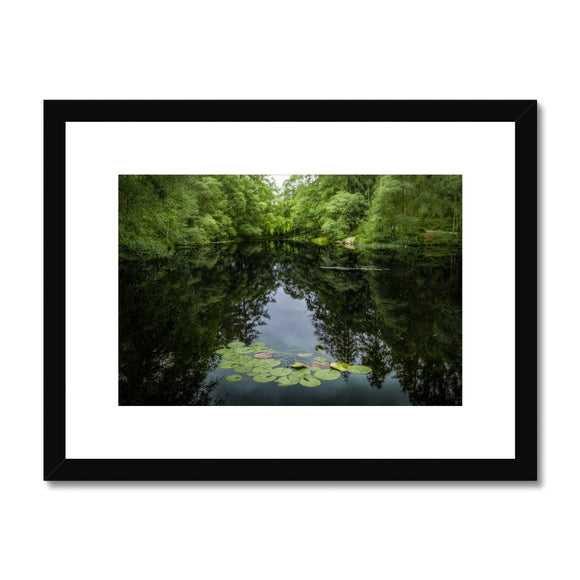 Lily Pads! - High Dam Tarn , Lake District Framed & Mounted Print