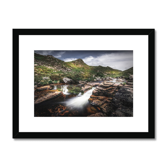 Carved by water - Tavy Cleave, Dartmoor Framed & Mounted Print
